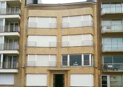 Gevelreiniging kust - Koksijde - appartement - na