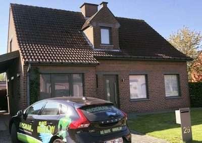 Reinigen dak - Kortrijk - voor