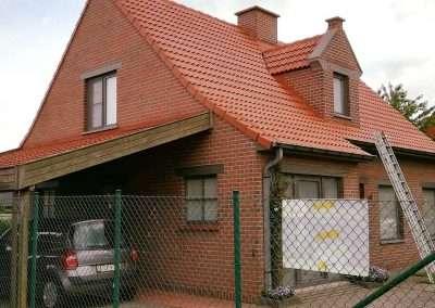 Ontmossen en coaten dak - Kortrijk - na
