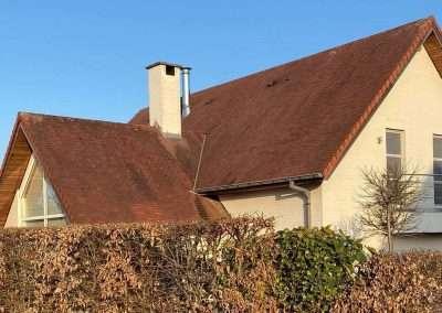Ontmossen dak woning - voor